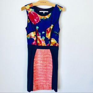 Rachel Roy Floral and tweed dress